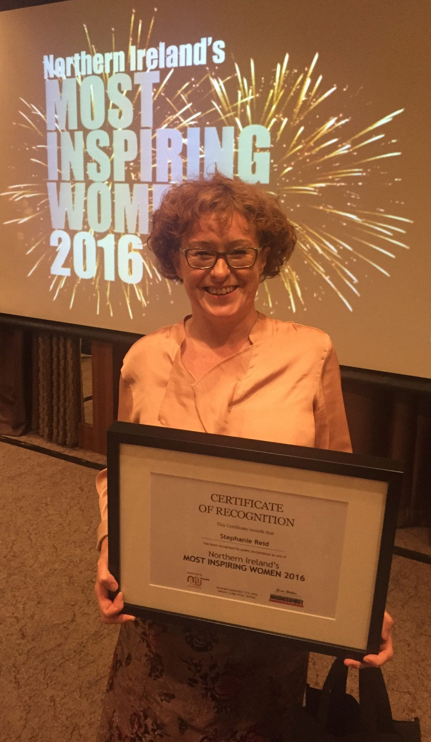 Stephanie Reid - Most Inspirational Women 2016
